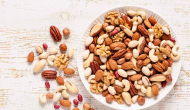 Nuts on a plate